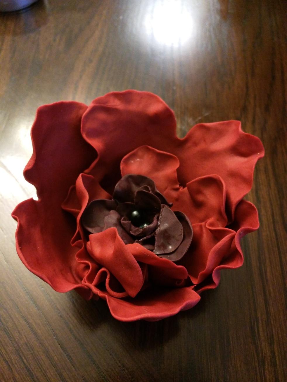 Cake decorating poppy flower fondant cake topper mightylinksfo